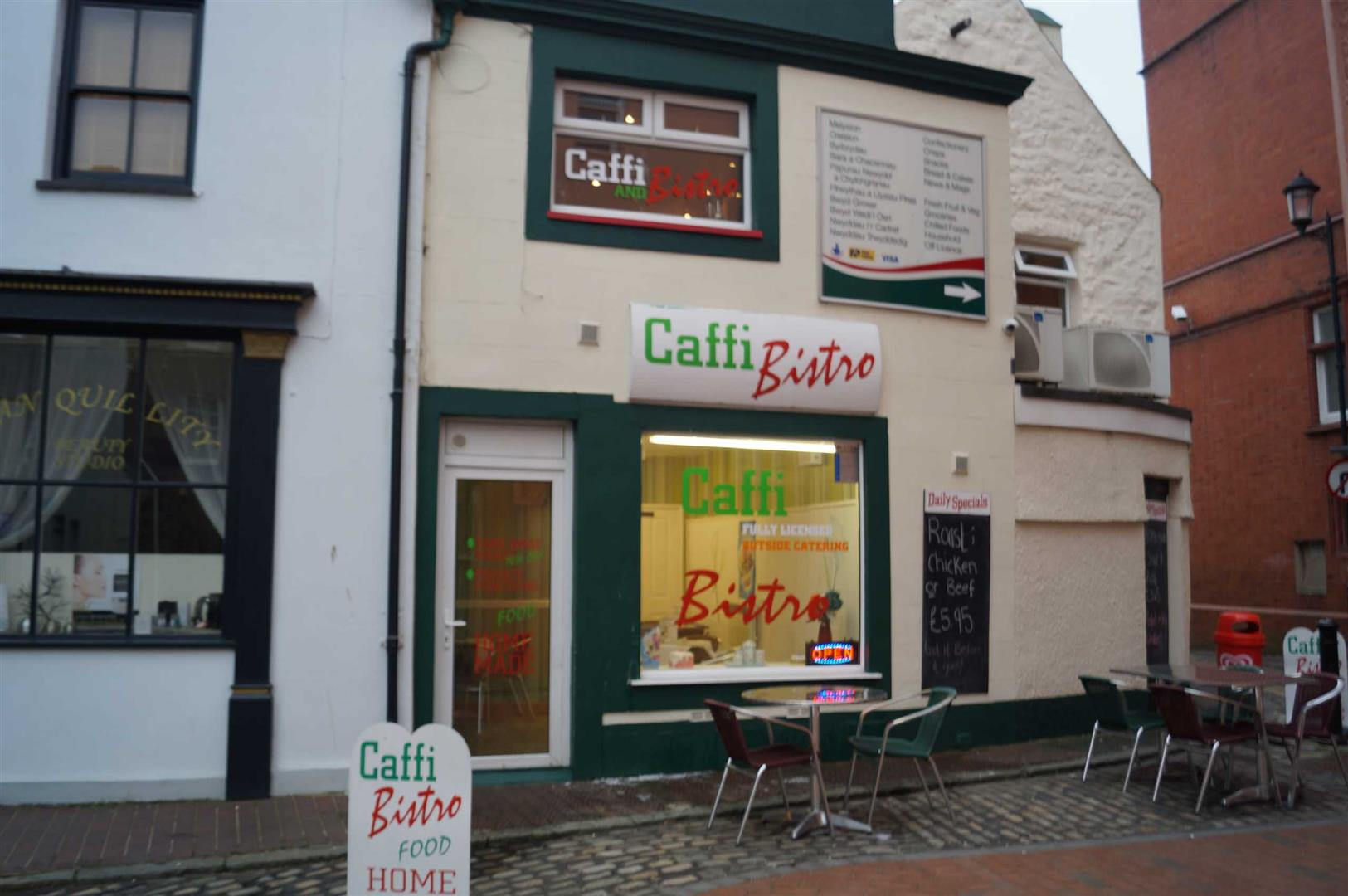 Shop at Mathan House, Penlan Street, Pwllheli